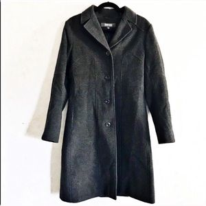 Kenneth Cole Reaction charcoal grey wool pea coat